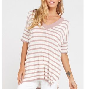 Tops - 🆕Re-posh mauve stripe top, New.